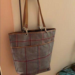 Tan Red Black Vintage RARE Ralph Lauren Bucket Bag
